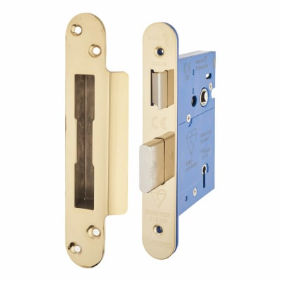 A-Spec BS3621 5 Lever Sashlock - 78mm Case - 57mm Backset - Radius - PVD Brass