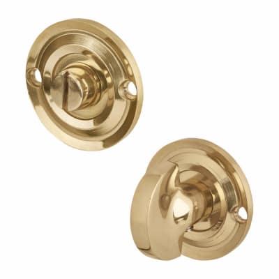Aglio Bathroom Turn & Release - Polished Brass