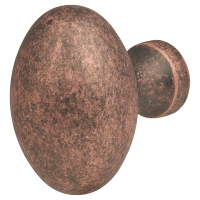 Oval Cabinet Knob - 34 x 23mm - Antique Copper
