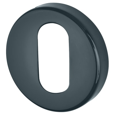 Hoppe Paris Coloured Nylon Oval Escutcheon - 52 x 9mm - Anthracite Grey