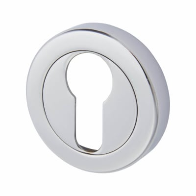 Aglio Escutcheon - Euro - Polished Chrome