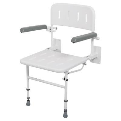 Nymas Standard Wall Mounted Shower Seat - No Padding