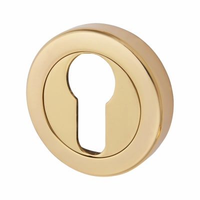 Aglio Escutcheon - Euro - Polished Brass