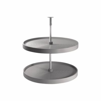 Full Tray Carousel Set - To Suit 800mm Cabinet - Grey Plastic