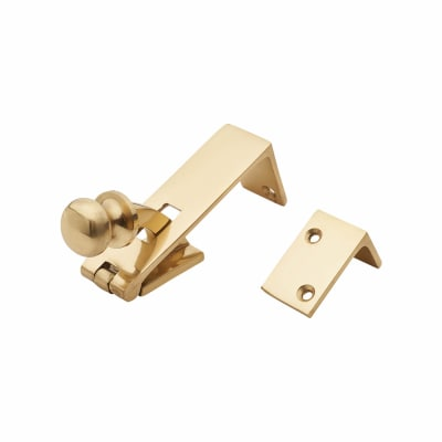 Counter Flap Catch - 84 x 22.5mm - Polished Brass