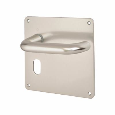 Altro 20mm Return to Door Handle - Oval Lock Set - Aluminium
