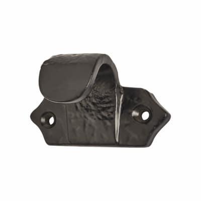 Iron Sash Finger Lift - 60 x 36mm - Antique Black Iron
