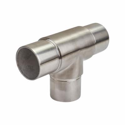 Balustrade 3 way Equal Tee - 304 Stainless Steel - Brushed Satin