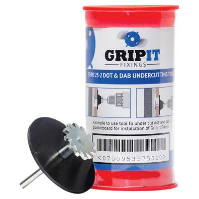 Grip It® Dot and Dab Undercutting Tool Kit - Blue - 25mm
