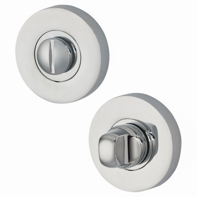 Jigtech Round Bathroom Turn & Release Set - Polished Chrome