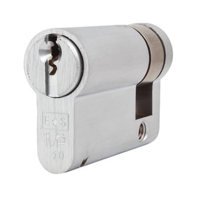 Eurospec Euro Single Cylinder - 10 Pin - 35 + 10mm - Satin Chrome - Master Keyed