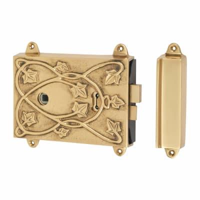 Cast Lock with Keep - Brass