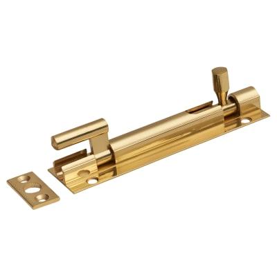 Cranked Barrel Bolt - 100 x 32mm - Polished Brass