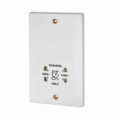BG 115/240V Dual Voltage Shaver Socket