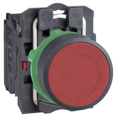 Schneider XB5 Series Flush Push Button 1NC - Red