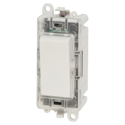 Click Scolmore 20AX 2 Way Blue Switch Locator Module - White