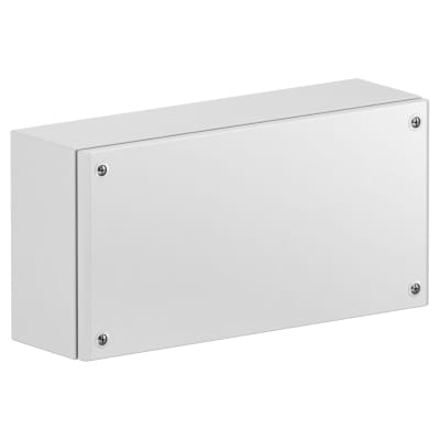 Schneider Spacial SBM Metal Industrial Flat Box - 150 x 400 x 80mm - Grey