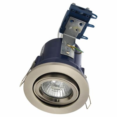 Forum Yate Adjustable LED Fire Rated Downlight - Satin Chrome