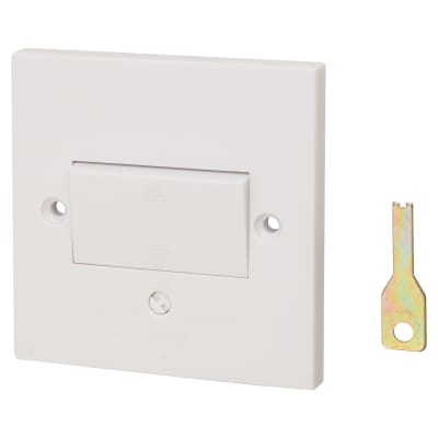 Schneider Exclusive 10A 1 Gang 3 Pole Fan Isolator Switch - White