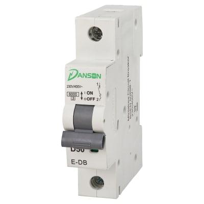 Danson 50A Single Pole 6kA MCB Module - Type D