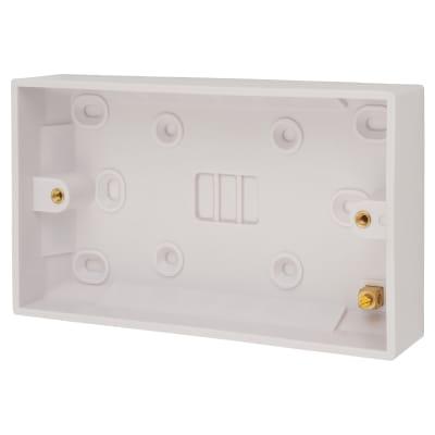 Schneider Exclusive 2 Gang Surface Pattress Box - 25mm - White