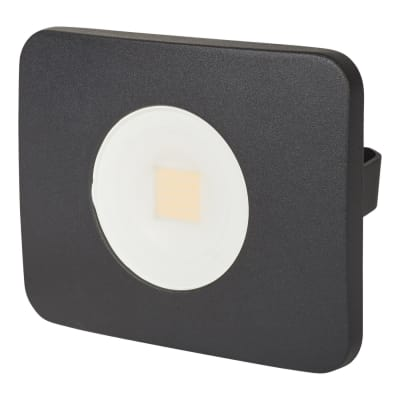 Integral LED 30W Compact-Tough Floodlight - 4000K - Black - Frosted Lens