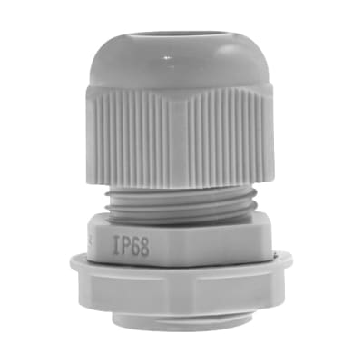 Unicrimp Nylon Cable Gland - 20mm (L) - Grey - Pack 10