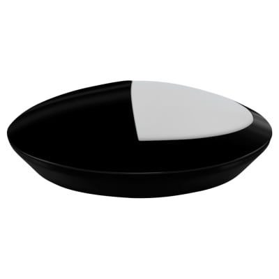 Crompton Melana 10.5W IP66 LED Oval Eyelid Bulkhead - Black - 4000K