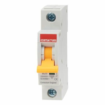 Contactum 25A 10kA Single Pole MCB - Type B