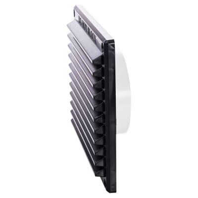 Rytons 6 x 6 Louvre Ventilator with Flyscreen & 97mm Dia. Backplate Set Bagged - Black
