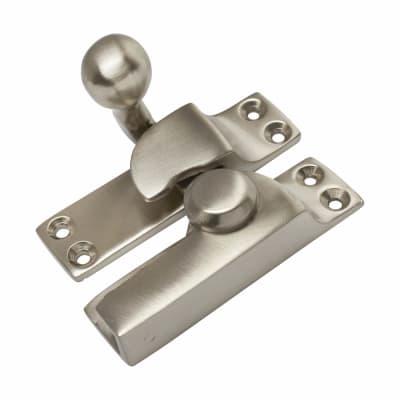 Quadrant Arm Sash Fastener - 69mm - Satin Nickel
