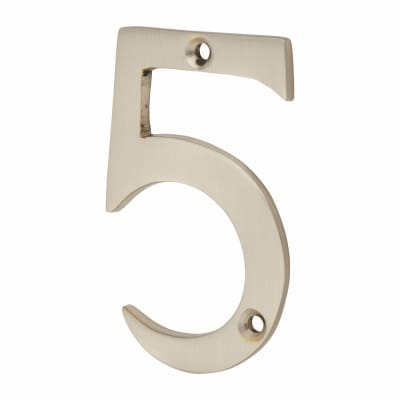 Morello Door Numeral - 5 - 76mm - Satin Nickel