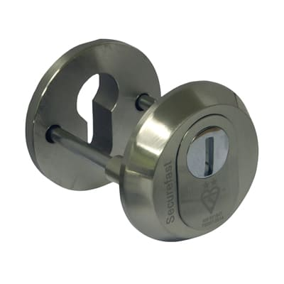 Securefast 2 Star High Security Escutcheon - Double Cylinder - Nickel Plated