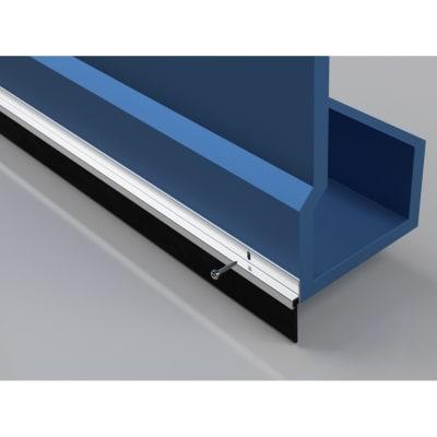 Garage Door Seal 50mm - 914mm - Aluminium
