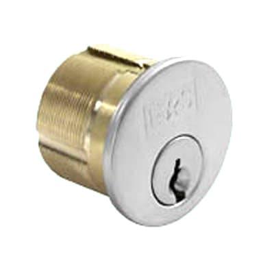 Eurospec Threaded Rim Cylinder - 5 Pin - Keyed to Differ - Polished Chrome - Master Keyed