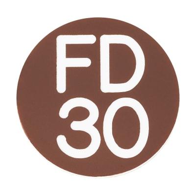 FD30 Door Sign Self Adhesive - 25mm - Brown