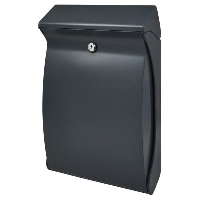 Burg Wachter Swing Plastic Postbox - 419 x 271 x 129mm - Anthracite Grey