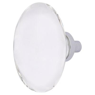 Aglio Globe Glass Cabinet Knob - 44mm - Polished Chrome