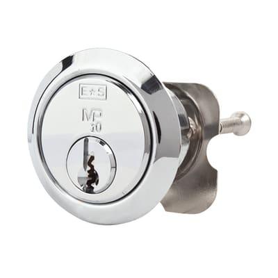 Eurospec Universal Rim Cylinder - 10 Pin - Polished Chrome - Keyed Alike
