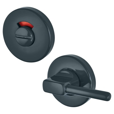 Hoppe Paris Coloured Nylon Disabled Bathroom Turn and Release - 52 x 9mm - Anthracite Grey