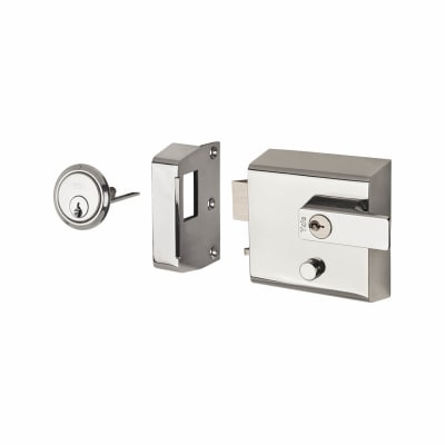 Yale® P1 Double Locking Nightlatch - Chrome