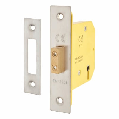 Altro 3 Lever Deadlock - 78mm Case - 57mm Backset - Satin Stainless