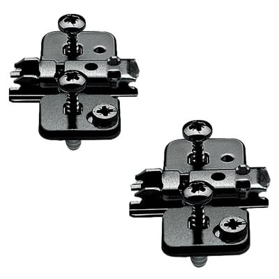 Blum CLIP Cruciform Mounting Plate - Screw On - 0mm Spacing - Steel - Black Onyx - Pair