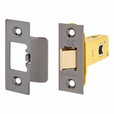 Altro Heavy Duty Tubular Latch - 65mm Case - 44mm Backset - Black Nickel
