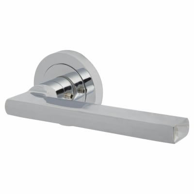 Touchpoint Lexi Lever Door Handle on Rose - Polished Chrome