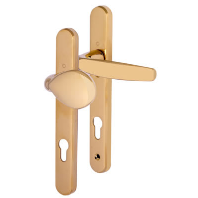 Hoppe Atlanta Multipoint Handle -uPVC/Timber -92mm C/C-60mm door thickness-Lever/Pad-Polished Brass