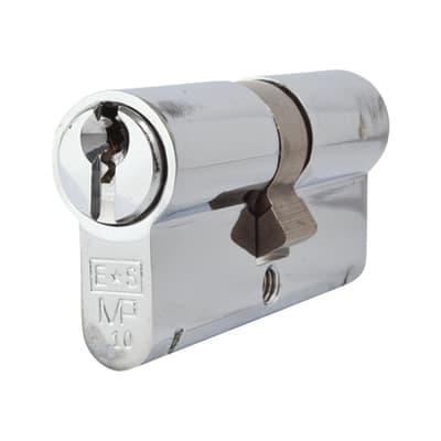 Eurospec Euro Double Cylinder - 10 Pin - 32 + 32mm - Polished Chrome - Keyed Alike