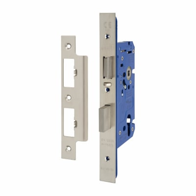 A-Spec Architectural DIN Euro Escape Sashlock - 85mm Case - 60mm Backset - Satin Stainless