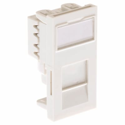 Ultima Low Profile Module Cat6 Euro Unshielded PCB - White