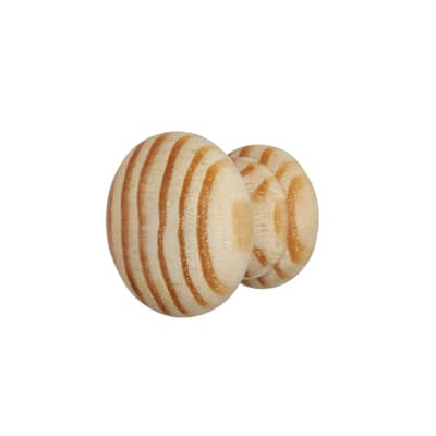 Touchpoint Wooden Cabinet Knob - 25mm - Pine - Pack 5